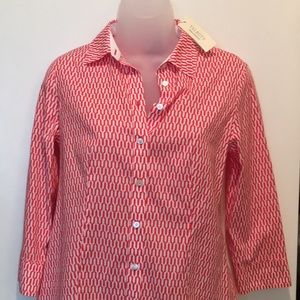 Talbots Wrinkle-Resistant Blouse Size 4P